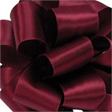 Wine Wired Satin Ribbon