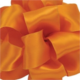 Orange Wired Satin Ribbon