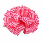 Neon Pink Zebra Crystal Ribbon