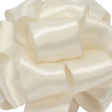 "4"" Ivory Wired Contessa Satin Ribbon"