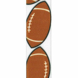 Football Grosgrain Sports Ribbon