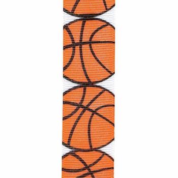 Basketball Grosgrain Sports Ribbon