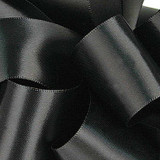1/8 Black Dainty Satin ribbon
