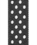 Black / White Grosgrain Confetti Dots