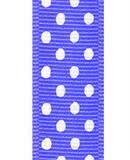 Delphinium / White Grosgrain Confetti Dots