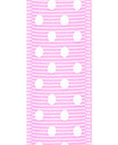 Light Pink / White Grosgrain Confetti Dots