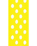 Yellow / White Grosgrain Confetti Dots