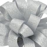 Luxe Silver Satin Glitter Ribbon.