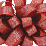 Luxe Red Satin Glitter Ribbon.