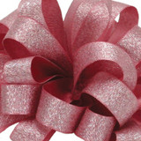Luxe Wild Rose Satin Glitter Ribbon