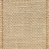 Natural Wired Edge Solid Burlap Ribbon.
