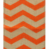 Orange Chevron Burlap Ribbon