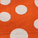 Orange Wired Edge Burlap Dots