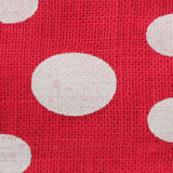 Fuchsia Wired Edge Burlap Dots