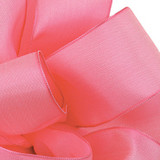 Hot Pink Wired Woven Ribbon