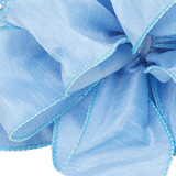Anisha - Sky Blue Wired Edge Ribbon