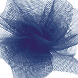 Solid Tulle Fabric - Navy