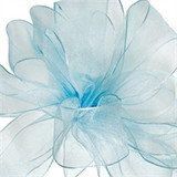 Encore Light Blue Sheer Wired Edge