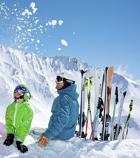 Snow Skis, bindings, poles and other gear