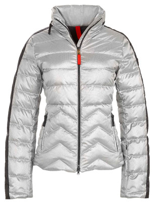 Fire & Ice Ski Jackets | Women's Danea-D in Metallic Silver | Goose Down | 3481