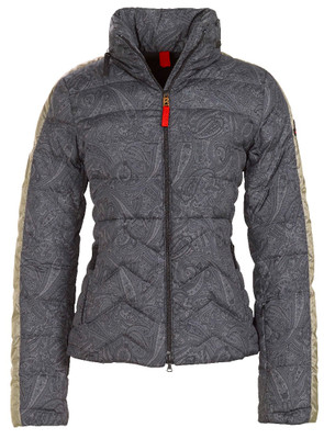 Fire & Ice Down Ski Jackets | Women's 020 Dark Grey Danea Print | 3481