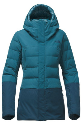 The North Face Women's Heavenly Down Jacket shown in Egyptian Blue/Monterey Blue. NF0A34MJ
