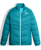 The North Face Girl's Andes Down Jacket shown here in Algiers Blue. NF0A34V2