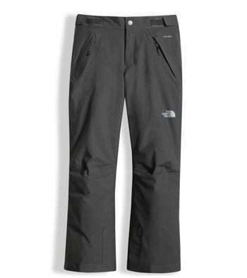 The North Face Girl's Insulated Freedom Pant shown in Graphite Grey. NF0A34V1