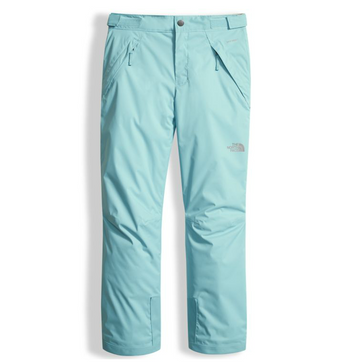 The North Face Girl's Insulated Freedom Pant shown in Nimbus Blue. NF0A34V1