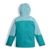 The North Face Girl's Mountain View Triclimate Jacket shown here in Nimbus Blue (Back). NF0A34UW