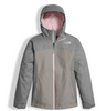 The North Face Girl's Osolita Triclimate Jacket shown here in Metallic Silver. NF0A34UM