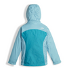 The North Face Girl's Osolita Triclimate Jacket shown here in Nimbus Blue (Back). NF0A34UM