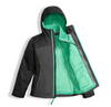The North Face Girl's Osolita Triclimate Jacket shown here in Graphite Grey (Open). NF0A34UM