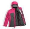 The North Face Girl's Osolita Triclimate Jacket shown here in Petticoat Pink (Open). NF0A34UM