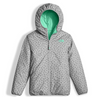 The North Face Girl's Reversible Perrito Jacket shown here in Bermuda Greeen (Reversed). NF0A2TMG