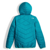 The North Face Girl's Reversible Perrito Jacket shown here in Algiers Blue (Back). NF0A2TMG