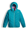 The North Face Girl's Reversible Perrito Jacket shown here in Algiers Blue. NF0A2TMG