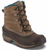 The North Face Women's Chilkat III Boots shown here in Cub Brown/Mediterranean Green. NF00CM69