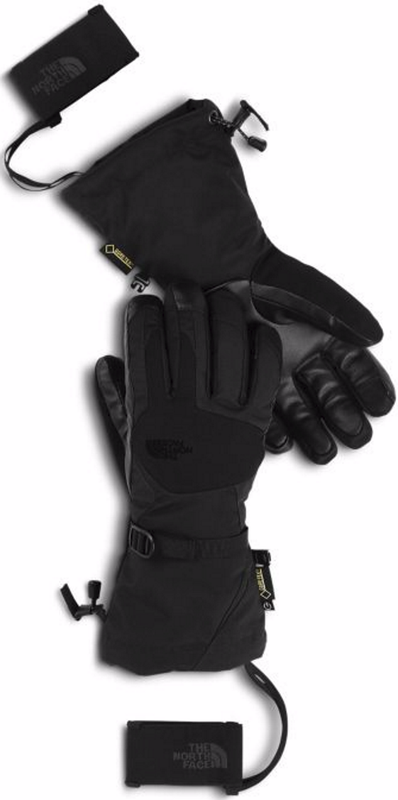 The North Face Women's Powderflo Gore-Tex Etip Gloves shown here in TNF Black. NF0A334I