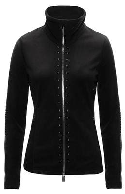 Toni Sailer Ski Midlayer | Women's Camille Fleece Jacket | Black | 272408