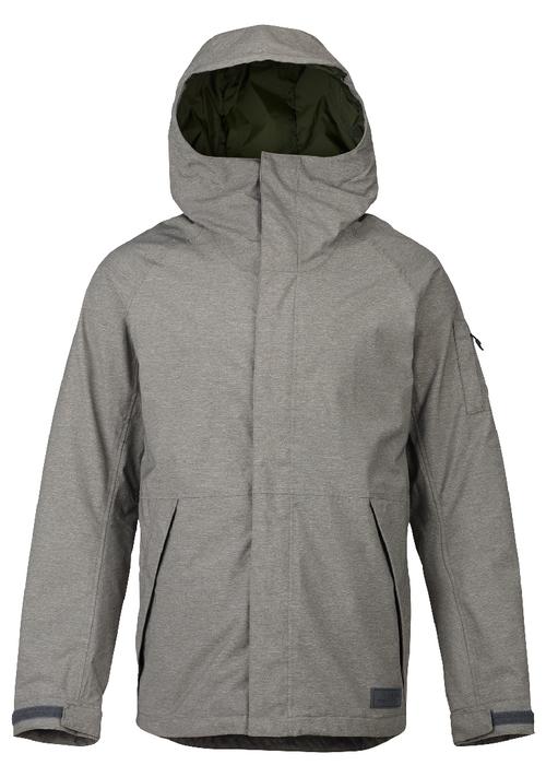 Burton Snowboard Jacket | Men's Hilltop shown in Shade Heather