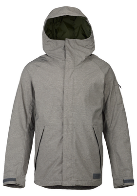 Burton Snowboard Jacket | Men's Hilltop shown in Shade Heather