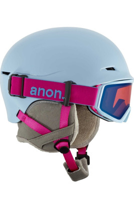 Anon Snowboard Helmet | Youth Define | Helmet | Goggles |152351 | Arctic Blue | Side