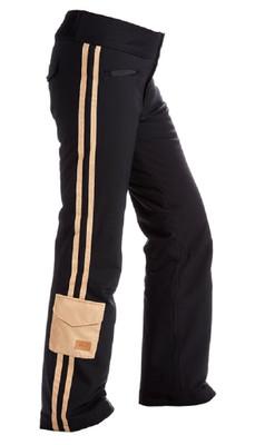 Nils Ski Pants | Women's Addie | Black/Caramel | 3317B showing the side stripes