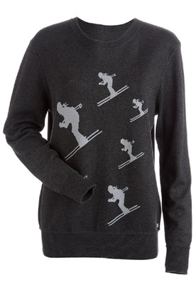 Nils Charcoal Grey Ski Sweater | Women's Skier | 6007