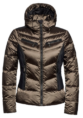 Goldbergh Ski Jacket | Women's Kumiko shown in Bomber bronze