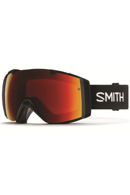 Smith I/O Goggles + Spare Lens | Prior Season | Black Frame | Chromapop Sun Red Mirror | Chromapop Storm Rose Flash
