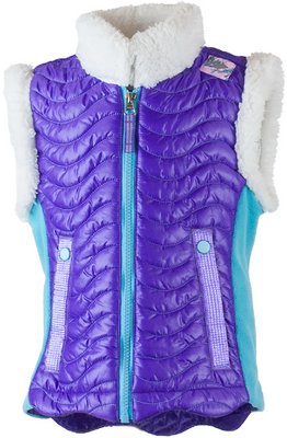Obermeyer Vest | Girl's Snuggle-Up shown I Grapesicle
