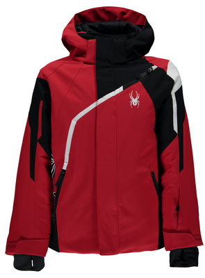 Spyder Ski Jacket | Boy's Challenger | 231011 - Color:  600 RED/BLACK/WHITE