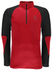 Spyder Mid-Layer | Men's Charger Thermastretch T-Neck | 417065 in  Black and Red 600